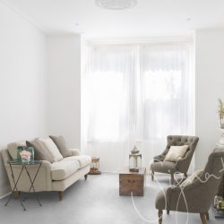 Sofa and armchairs in living room